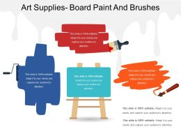 Art Supplies Board Paint And Brushes