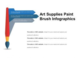 Art Supplies Paint Brush Infographics