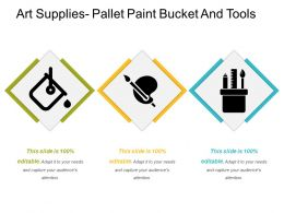 Art Supplies Pallet Paint Bucket And Tools