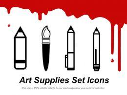 Art Supplies Set Icons