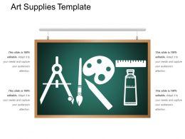 Art Supplies Template