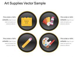 Art Supplies Vector Sample