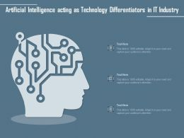 Artificial Intelligence Acting As Technology Differentiators In IT Industry
