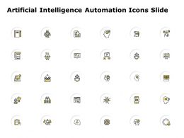 Artificial Intelligence Automation Icons Slide Growth Checklist C114 Ppt Powerpoint Presentation