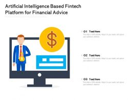 Artificial Intelligence Based Fintech Platform For Financial Advice