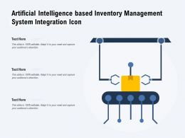Artificial Intelligence Based Inventory Management System Integration Icon