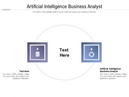 Artificial Intelligence Business Analyst Ppt Powerpoint Presentation Professional Guidelines Cpb