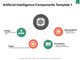 Artificial Intelligence Components Ppt Powerpoint Presentation Portfolio Graphics Design