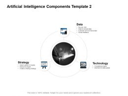 Artificial Intelligence Components Template Strategy Powerpoint Presentation Slides