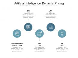 Artificial Intelligence Dynamic Pricing Ppt Powerpoint Presentation Outline Slide Cpb