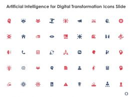 Artificial Intelligence For Digital Transformation Icons Slide