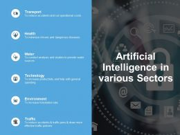 Artificial Intelligence In Various Sectors Environment Ppt Powerpoint Presentation Structure
