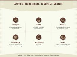 Artificial Intelligence In Various Sectors Operational Costs Ppt Presentation Visual Aids