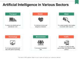 Artificial Intelligence In Various Sectors Ppt Powerpoint Presentation Portfolio Graphics Template