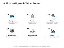 Artificial Intelligence In Various Sectors Technology Powerpoint Presentation Slides