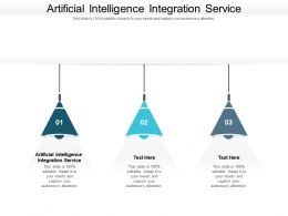 Artificial Intelligence Integration Service Ppt Powerpoint Presentation Slides Images Cpb