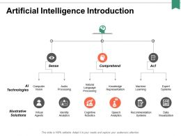 Artificial Intelligence Introduction Ppt Powerpoint Presentation Portfolio Graphics Tutorials