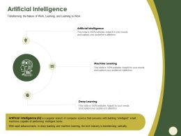 Artificial Intelligence Learning M563 Ppt Powerpoint Presentation Infographics Themes