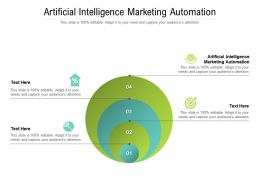 Artificial Intelligence Marketing Automation Ppt Powerpoint Presentation Model Portrait Cpb