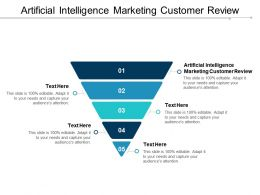 Artificial Intelligence Marketing Customer Review Ppt Powerpoint Presentation Outline Microsoft Cpb