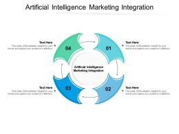 Artificial Intelligence Marketing Integration Ppt Powerpoint Presentation Icon Slides Cpb