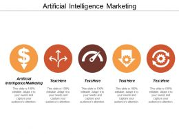 Artificial Intelligence Marketing Ppt Powerpoint Presentation Layouts Diagrams Cpb