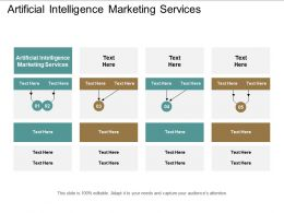 Artificial Intelligence Marketing Services Ppt Powerpoint Presentation File Graphics Design Cpb