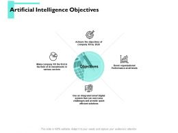 Artificial Intelligence Objectives Arrow Ppt Powerpoint Presentation Portfolio Inspiration