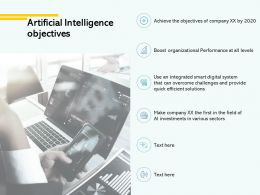 Artificial Intelligence Objectives Communication Ppt Powerpoint Presentation File Designs