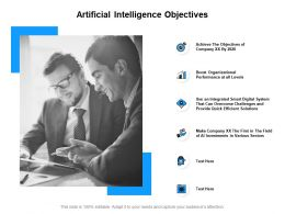 Artificial Intelligence Objectives Performance Ppt Powerpoint Presentation Slides