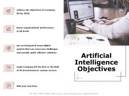 Artificial Intelligence Objectives Ppt Powerpoint Presentation Gallery