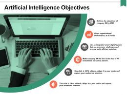 Artificial Intelligence Objectives Ppt Powerpoint Presentation Portfolio Icons