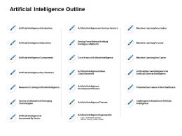 Artificial Intelligence Outline Intelligence Development Ppt Powerpoint Slides