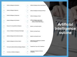 Artificial Intelligence Outline Learning Process Ppt Powerpoint Presentation Pictures Model