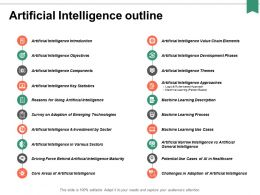 Artificial Intelligence Outline Ppt Powerpoint Presentation Portfolio Maker