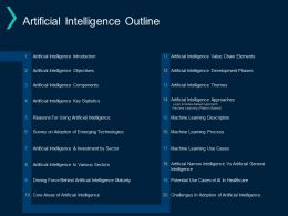 Artificial Intelligence Outline Process Development Ppt Powerpoint Presentation Inspiration Deck