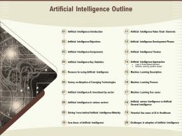 Artificial Intelligence Outline Various Sectors Ppt Powerpoint Presentation Model