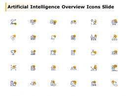 Artificial Intelligence Overview Icons Slide Finance Compare C76 Ppt Powerpoint Presentation File Graphics