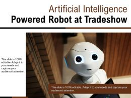 Artificial Intelligence Powered Robot At Tradeshow