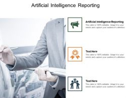 Artificial Intelligence Reporting Ppt Powerpoint Presentation Diagram Lists Cpb