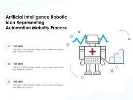 Artificial Intelligence Robotic Icon Representing Automation Maturity Process