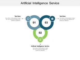 Artificial Intelligence Service Ppt Powerpoint Presentation Infographic Template Portrait Cpb