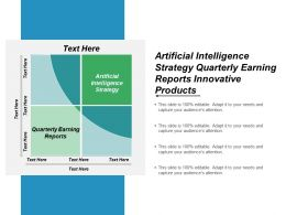 Artificial Intelligence Strategy Quarterly Earning Reports Innovative Products Cpb