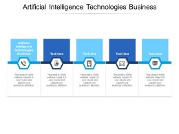 Artificial Intelligence Technologies Business Ppt Powerpoint Display Cpb