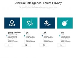 Artificial Intelligence Threat Privacy Ppt Powerpoint Presentation Infographic Template Shapes Cpb