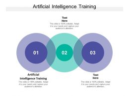 Artificial Intelligence Training Ppt Powerpoint Presentation Inspiration Guide Cpb