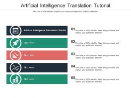 Artificial Intelligence Translation Tutorial Ppt Powerpoint Presentation Ideas Infographics Cpb
