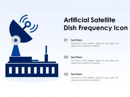 Artificial Satellite Dish Frequency Icon