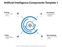 Artificiel Intelligence Components Strategy Process Ppt Powerpoint Presentation Pictures Slides