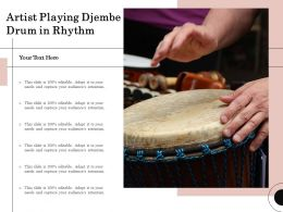 Artist Playing Djembe Drum In Rhythm